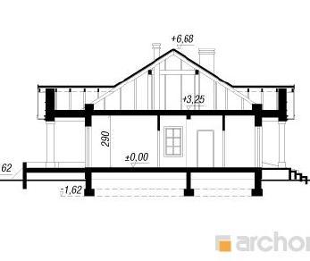 Проект  Дом в гаурах, 150.8 м2