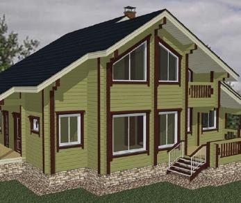 Проект дома Проект дома из клееного бруса «Порту», 219.67 м2
