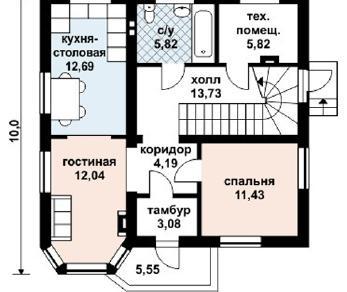 Проект дома AS-2058, 142 м2