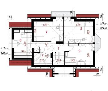 Проект  Дом в магнолиях 2 (П), 250.9 м2