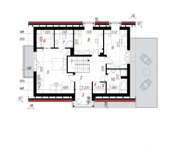Проект  Дом в мандрагоре, 201 м2