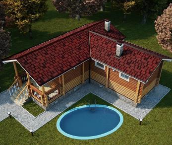 Проект бани Каракум, 38 м2
