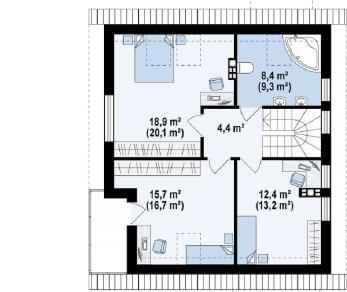 Проект дома Проект z248, 128.5 м2