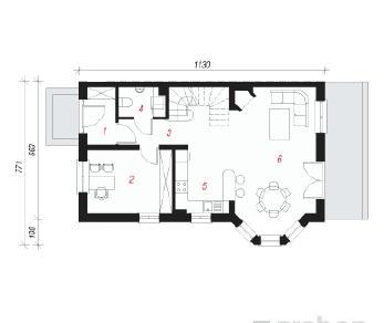 Проект  Дом в дельфиниуме 2, 113.3 м2