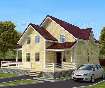 Проект дома Проект дома №128, 89 м2