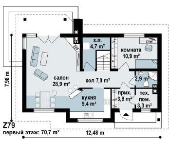 Проект дома Проект z79, 138.8 м2