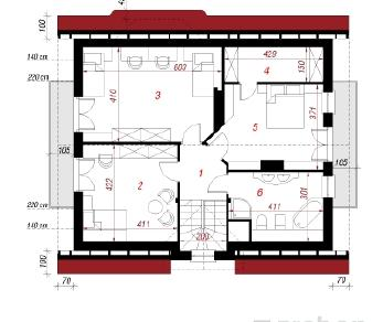 Проект  Дом в кувшинках, 141.2 м2