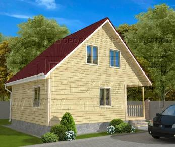 Проект дома Проект дома №97, 48 м2