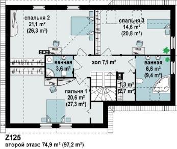 Проект дома Проект z125, 192.2 м2