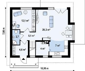 Проект дома Проект Z101, 118.5 м2