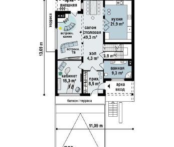 Проект дома Проект z53, 350.7 м2