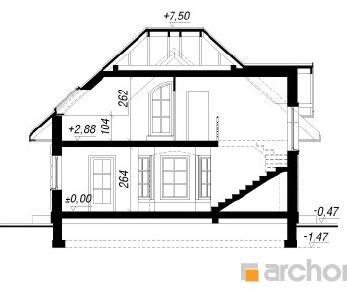 Проект  Дом под белой акацией, 107.2 м2