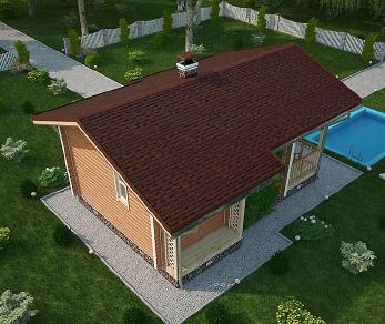 Проект бани Мохава, 41.4 м2