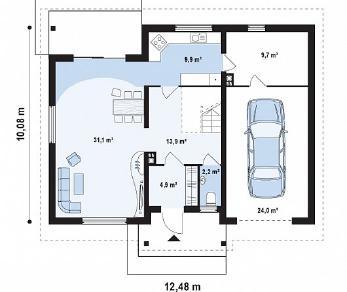 Проект дома Проект Z88, 197.2 м2