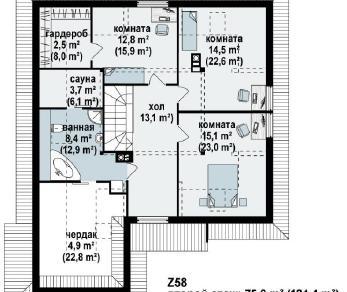 Проект дома Проект z58, 241.8 м2