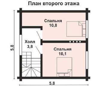 Проект дома AS-2043-2, 52 м2