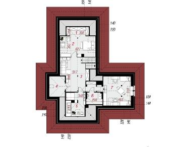 Проект  Дом в амаранте (М), 276.7 м2