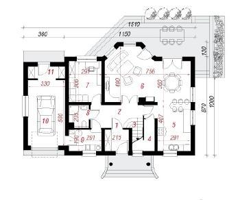 Проект  Дом в незабудках 6, 184 м2