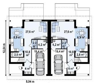 Проект дома Проект zb12, 163.3 м2