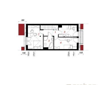 Проект  Дом под гинко 3, 145.6 м2