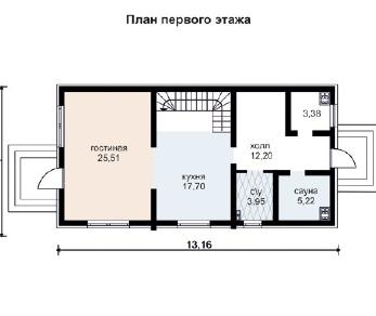 Проект дома AS-2006, 146 м2