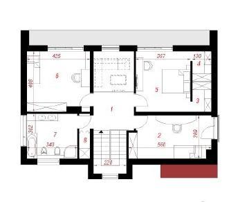 Проект  Дом в гайлардиях, 160 м2