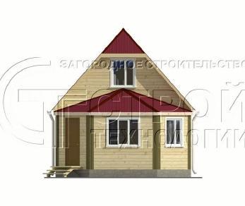 Проект дома Проект дома №2, 57 м2