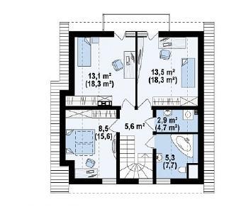 Проект дома Проект Z134, 134.8 м2