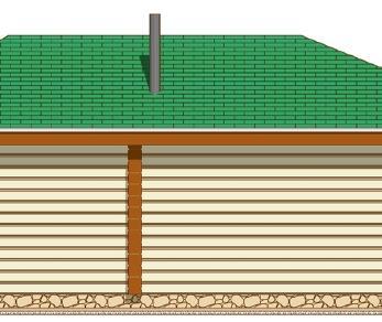 Проект дома Проект летней кухни из клееного бруса «ЛК-1», 33.09 м2
