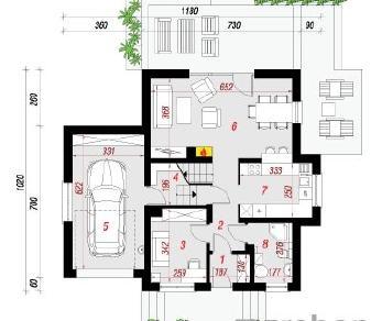 Проект  Дом под каштаном 3 (Н), 135.47 м2