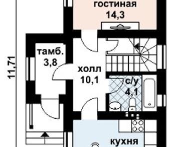 Проект дома AS-2052, 81 м2