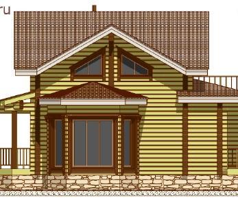 Проект дома Проект дома из клееного бруса «Лейвен», 82.29 м2