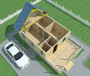 Проект дома Проект дома №77, 60 м2