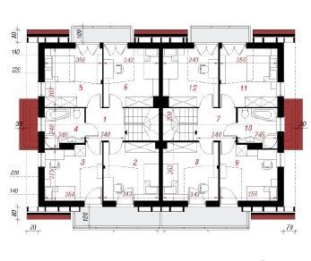 Проект  Дом в клематисах 8, 244.4 м2