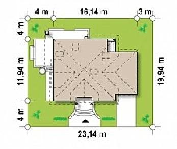 Проект дома Проект Z109, 253.2 м2