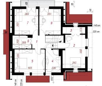 Проект  Дом под катальпой, 159.5 м2
