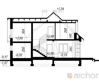 Проект  Дом в далиях 3, 137.6 м2