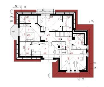 Проект  Дом в нектаринах 3, 204.1 м2