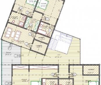 Проект  Деревянный дом в стиле хайтек, 559 м2