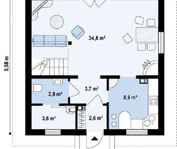 Проект дома Проект z1bl, 108.4 м2