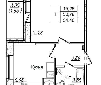 Продажа квартиры Загородная ул. к. 3 Уч. 44