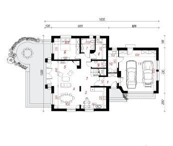 Проект  Дом в немезии (Г2), 252.5 м2