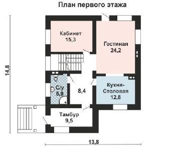 Проект дома AS-2165, 276 м2