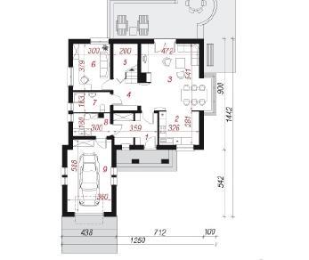 Проект  Дом в тоцциях, 163.8 м2