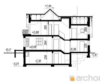 Проект  Дом в тамарисках 2 (П), 195.3 м2