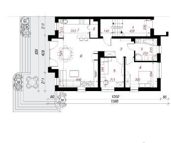Проект  Дом в малине, 159 м2