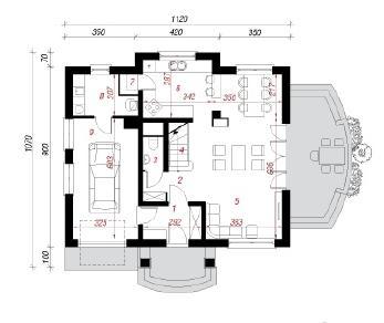 Проект  Дом в аспарагусах, 149.6 м2