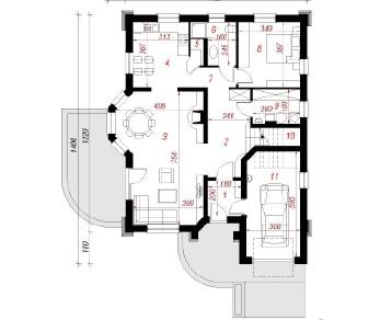 Проект  Дом в дуброве, 174.2 м2