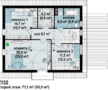 Проект дома Проект z132, 197.2 м2
