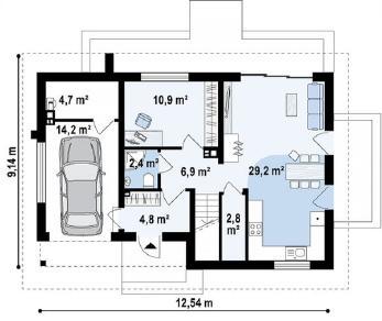Проект дома Проект z269, 154.5 м2